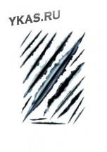 Наклейка  Пулевое отверстие №4  R458-5  21x30см