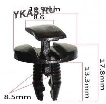 Клипсы  В=17,8 / Ш=19,9 мм.  (цена за упак. 10шт.)