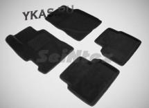 Коврики  Honda Civic VIII SD 2006-2012г. /компл.5шт./осн.резин./ 3D
