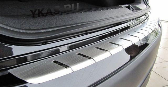 Накладки на бампер алюминиевая с тиснением  Kia Rio III c 2012г-