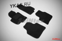 Коврики текстильн. Skoda Super B 2008-2015г.  /компл.4шт./осн.резин./ LUX