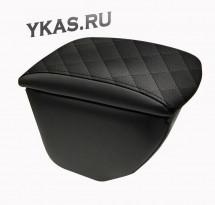 Подлокотник мод. Kia Soul c 2013г.-  чёрный/чёрный/чёрный  РОМБ (В ПОДСТАКАННИК)