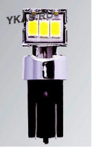Маяк Cвет-од  ULTRA 12V T10  3SMD (3020) Side/60*/180* 1.2W 40Lm W2,1x9,5D 6000K SUPER WHITE (2шт.)