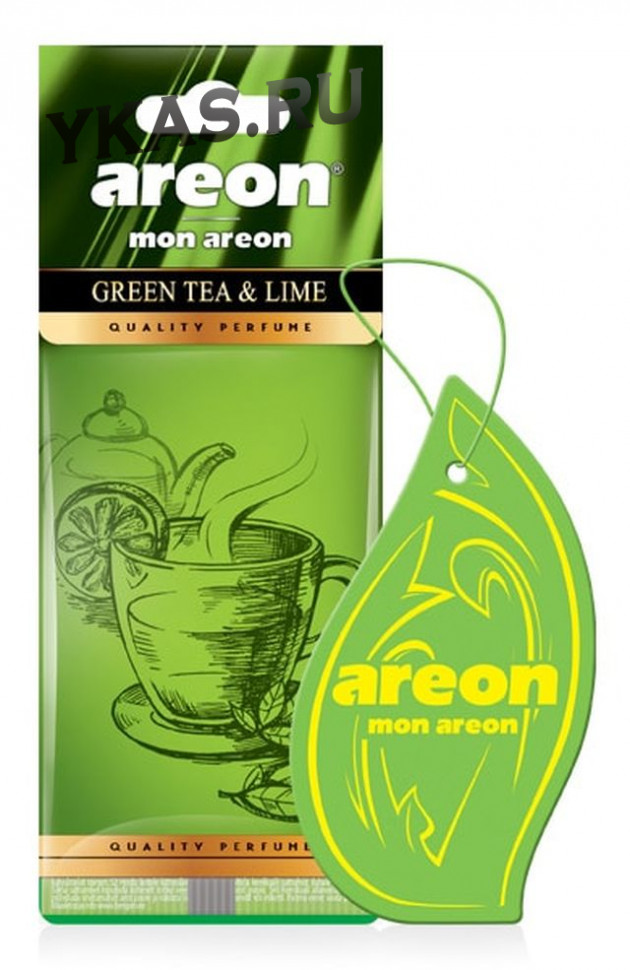 "Осв.возд. Areon Сухой MON CLASSIC ""Елочки""  Green Tea & Lime"