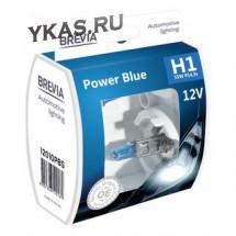 Автолампа BREVIA  12V  H1  55W P14.5s Power Blue S2 (box 2шт)
