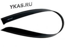 Дефлекторы стёкол  Hyundai Solaris II 2017г-  (седан)  НЕЛОМАЮЩИЕСЯ  накладные  к-т 4 шт.
