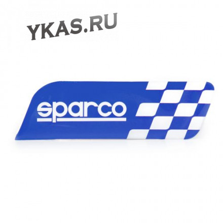 """Накладки на кузов  Эмблема  """"SPARCO""""  на кузов  Флаг , синий  (120x35мм)"""