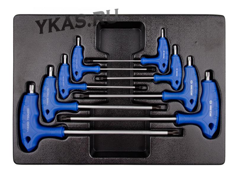 Набор L-образных ключей TORX, ложемент  _37529