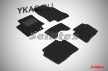 Коврики текстильн. Hyundai  i 20 c 2008г-  /компл.5шт./осн.резин./ LUX