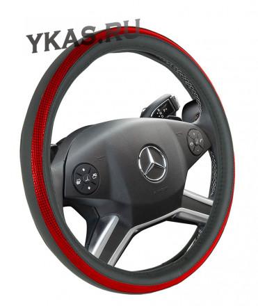 Оплетка на руль   CF  POINT - M, Чёрный/Красный