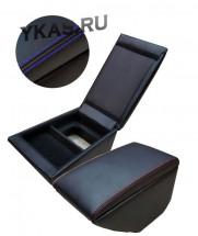 Подлокотник мод. Kia Rio c 2012-2017г. чёрный/чёрный/синий