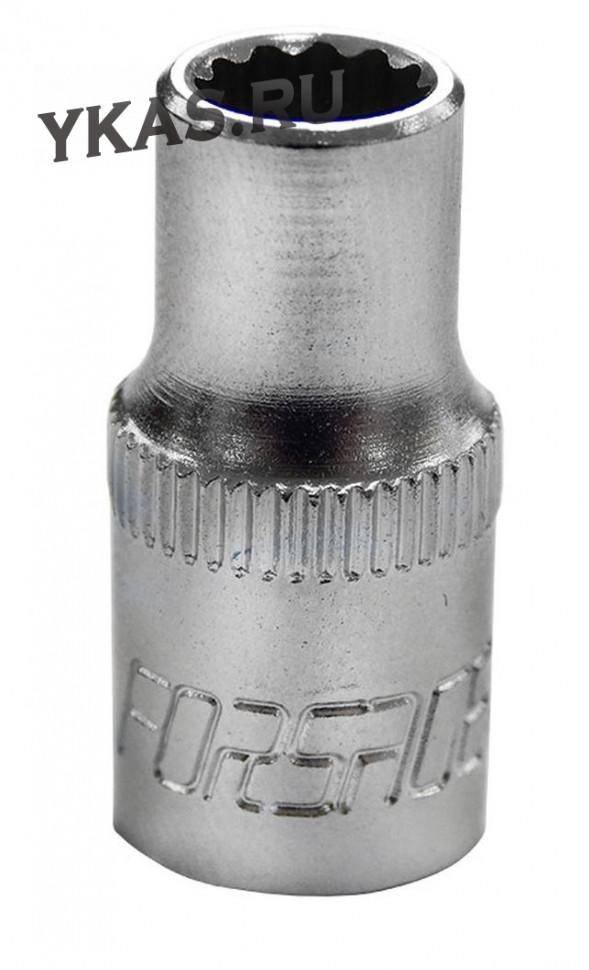"FORSAGE. Торц. головка 1/4"" 12-гр.  6 мм"