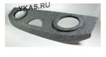 Полка акустическая  CHEVROLET Lanos  дсп/мдф  (15-18мм) , карпет Серый