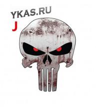 Наклейка  Череп  11x15см  №14