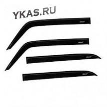Дефлекторы стёкол  Skoda Rapid  2012г-  (седан)   VOIN  накладные  к-т 4 шт.