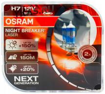 Лампа OSRAM 12V     H7   55W  NL LASER BOX  PX26d  (2шт.) (+150%)