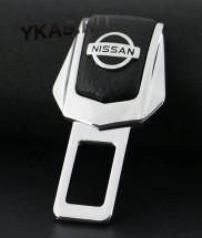 "Блокировка ремня безопасности металл +кожа  ""NISSAN""  2шт."