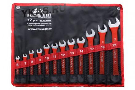 King Tul. Набор ключей комбинир., 12предм., (6-14,17,19,22мм) на полотне