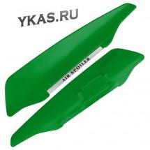 Спойлер  на дворники 1824 зелёный (с наклейками)