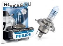 Автолампа Philips 12V   H4    60/55W  P43t-38  White Vision +60% blister 1pcs