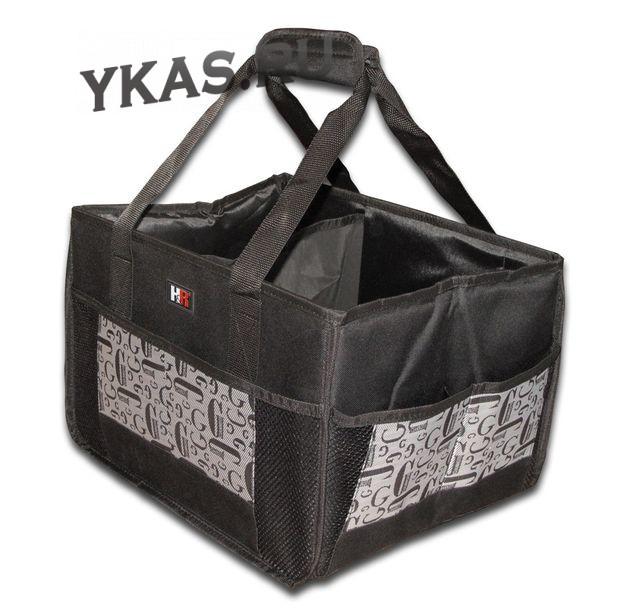 Органайзер в багажник универс. «BOX M» Черно-Серый YF-0867 (43x38x57)