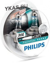 Автолампа Philips 12V   H4    60/55W  P43t-38  X-treme Vision (+130% света) Set 2 pcs.