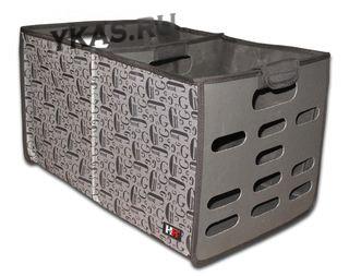 Органайзер в багажник универс. «BOX XL» Черно-Серый YF-0819B (37x40x38)