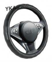 Оплетка на руль   CF  RIB LUX - М,  Чёрный/БО (кожа)