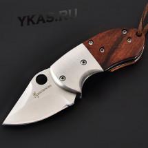 Нож складной 11см дерево