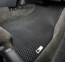 Коврики Nissan Almera IV с 2013г- основа черная, кант черный  EVA