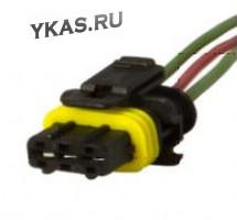ЭТ Колодка модуля зажигания ВАЗ с проводами  (цена за 1штук)