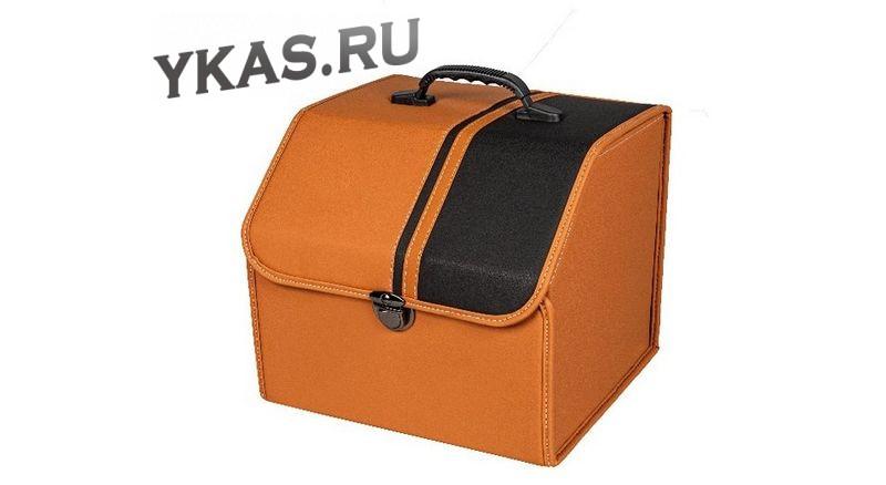 Сумка органайзер в багажник «S» 35/30/30 коричневый/черная полоса