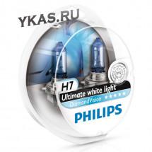 Автолампа Philips 12V   H7    55W  PX26d  Diamond Vision SQL 2 шт