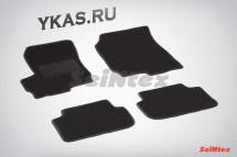 Коврики текстильн. Mitsubishi Colt VI 2004-2012г. /компл.4шт./осн.резин./ LUX