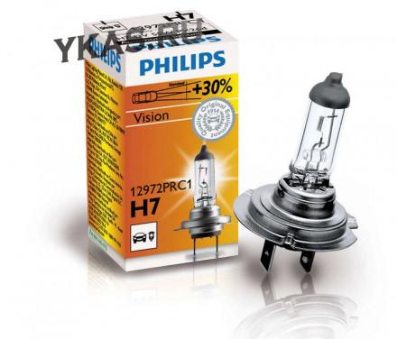 Автолампа Philips 12V   H7    55W  PX26d  Premium (30% more light) карт.1шт.