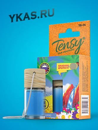 """Осв.воздуха  """"Tensy"""" жидкий подвесн.с пробником (Горный водопад), Бутылочка XS с дерев. крышкой 6мл."""