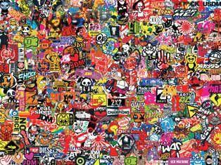 """Наклейка """"Sticker -boom №3"""" (60х80 см), наружная полноцветная"""