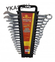 King Tul. Набор ключей комбинир., 16 предм.,  (6-19, 22, 24мм)  в пласт. держателе