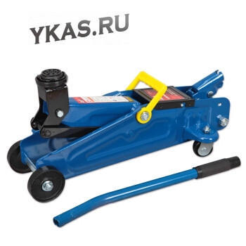 Домкрат подкатной гидравл.  2т чемод 8.0 кг. FORSAGE  (h min 135мм - h max 320мм) УСИЛЕННЫЙ  Profi