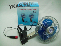 "Вентилятор 6"" KS 1624-1  24 V метал.(регулир.скор.,угол поворота 120 градусов на клипсе)"