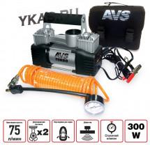 Компрессор  AVS  KS 750D  300Вт/10Атм/75л/двухпоршневой /шланг 4м/  клеммы