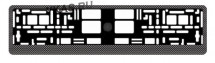 Рамка номера пластик  AVS RN-4  Карбон  черный