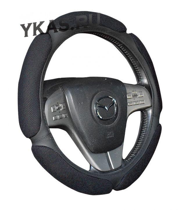 Оплетка на руль   H&R  TWEED - L,  Серый