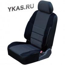 АВТОЧЕХЛЫ   Kia  Ceed с 2012г-  (анатом. поддержка, жаккард + кож.зам.)