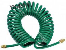"Инструмент HANS. Шланг спиральн.для пневмоинстр-та 8*12мм*15м с фитингом 1/4"""
