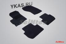Коврики текстильн. Mitsubishi Outlander II 2006-2012г.  /компл.4шт./осн.резин./ LUX
