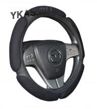 Оплетка на руль   H&R  TWEED - XL, Тёмно/Серый