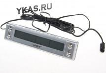 Авточасы  VST 7036 термометр внутр. наруж./часы/подсветка