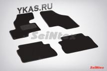 Коврики текстильн. Hyundai Santa Fe III c 2010г-  /компл.4шт./осн.резин./ LUX