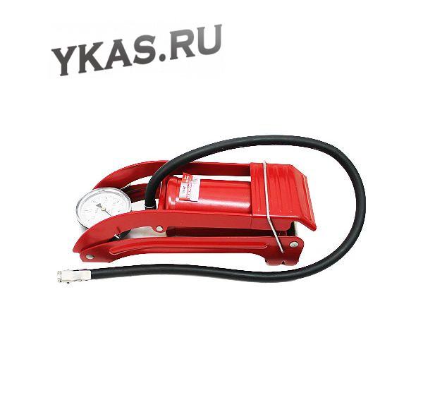 """Насос ножной """"RedMark"""" одинарный с манометром (красный)"""